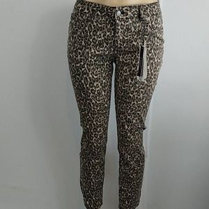 d.jeans Brown Leopard High Waist Ankle Jeans